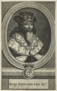 King Edward III after Michael Vandergucht line engraving, late 17th century NPG D23698 © National Portrait Gallery, London