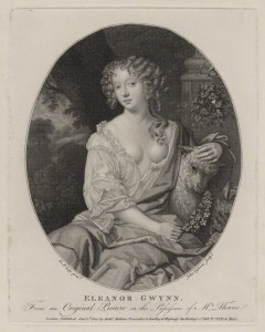 Eleanor ('Nell') Gwyn by John Ogborne, published by  Anthony Molteno, after  Sir Peter Lely
