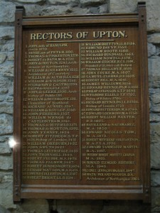 Rectors of Upton, Northampton